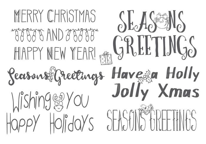 Handgetekende Kerstbrievenborstels