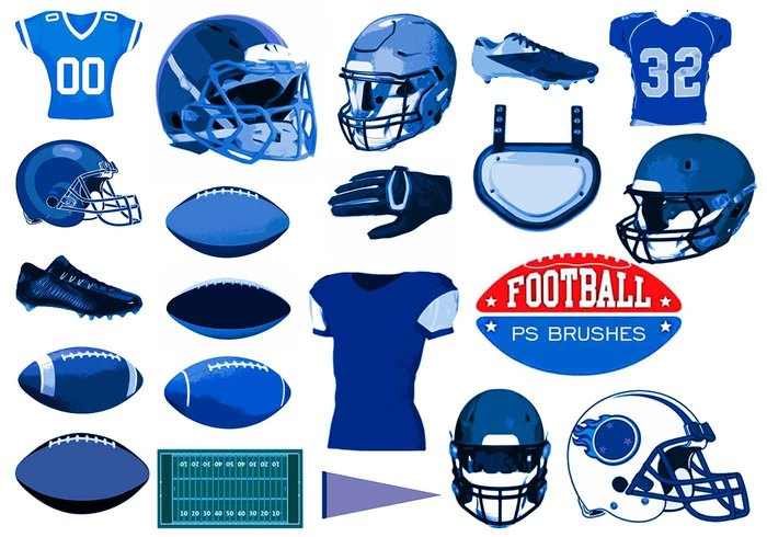 20 Football Ps Brushes abr. vol 10