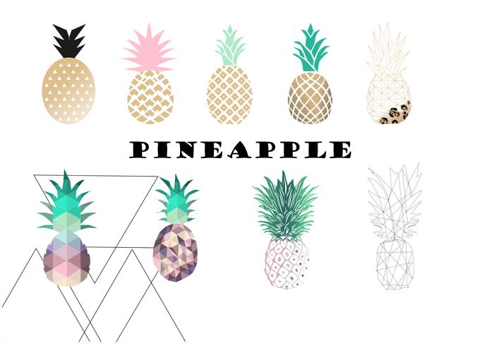 Tropical Pineapple Brush Set