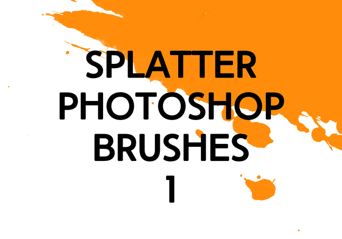 Brosses photoshop splatter 1