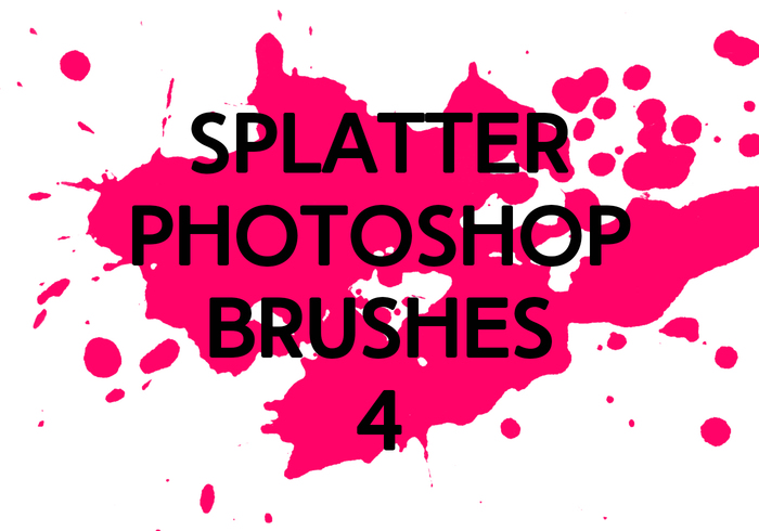 Brosses photoshop splatter 4