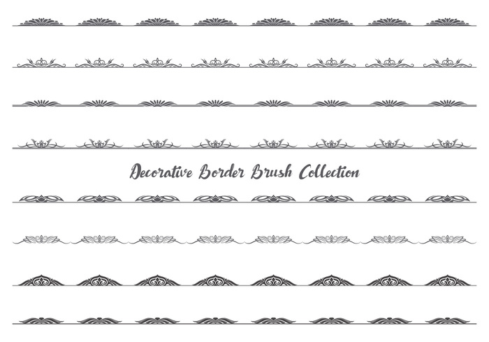 Dekorativa Border / Divider Brush Collection