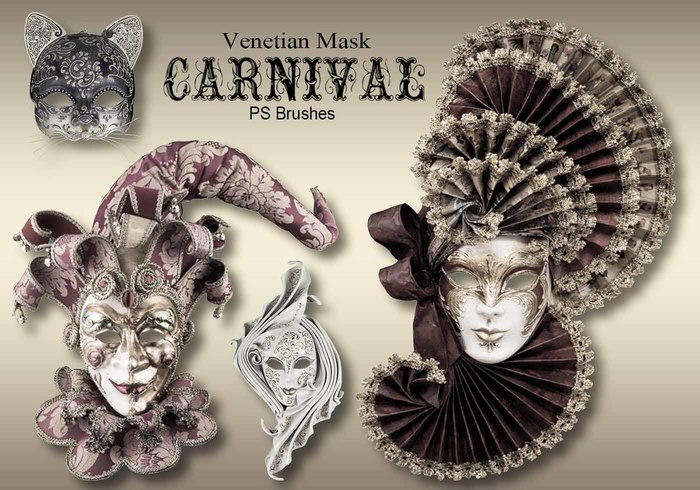 20 Carnival Mask PS Pinceles abr.vol.9