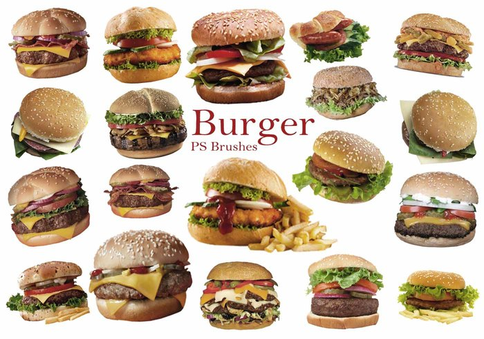 20 Burger PS Brushes abr. Vol.8