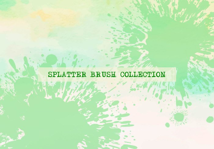 Collection Brushes Splatter