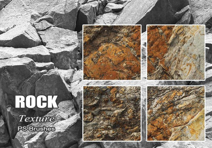 20 Rock Texture PS Pinceles abr vol.22