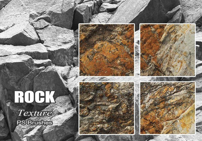 20 Rock Texture PS Brushes abr vol.22