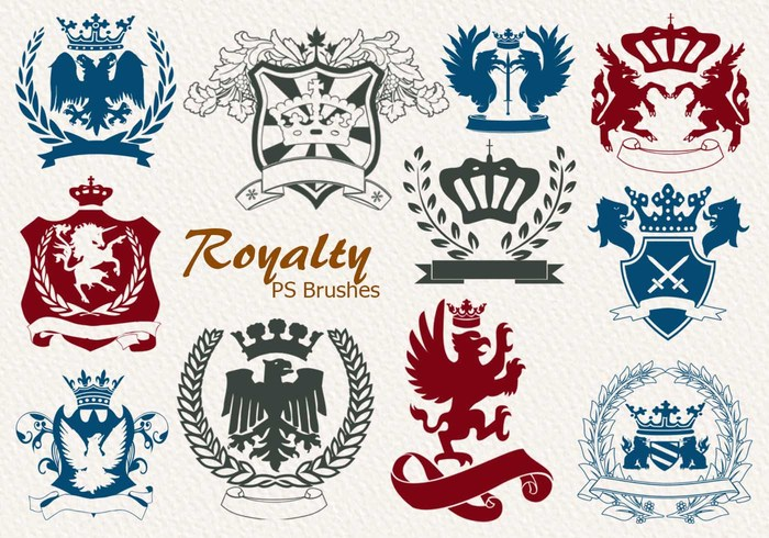 20 Royalty Emblem PS Bürsten abr. Vol.4