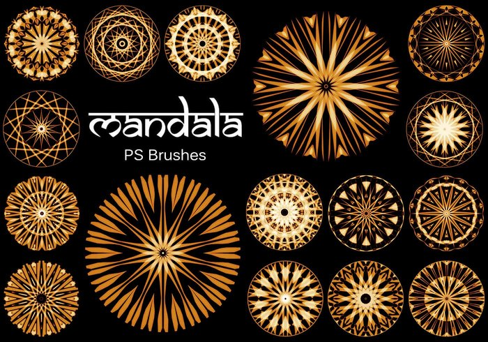 20 Mandala PS Brushes abr. vol.14