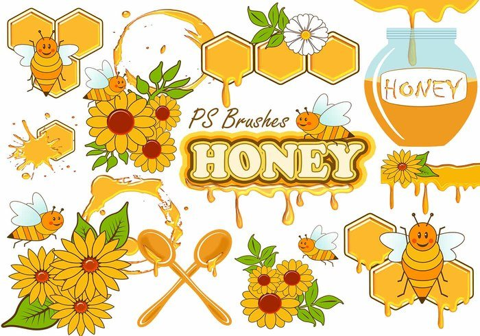 20 Cute Honey PS Pinceles abr. Vol.10