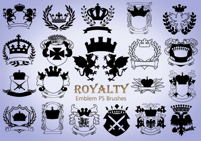 20 Royalty Emblem PS Bürsten abr. Vol.3
