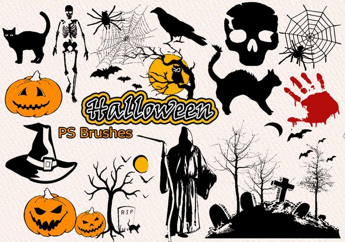 20 Halloween PS Bürsten abr. Vol. 11