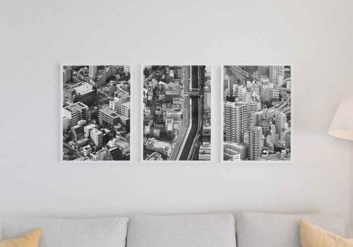 Living Room Poster Set Mockups
