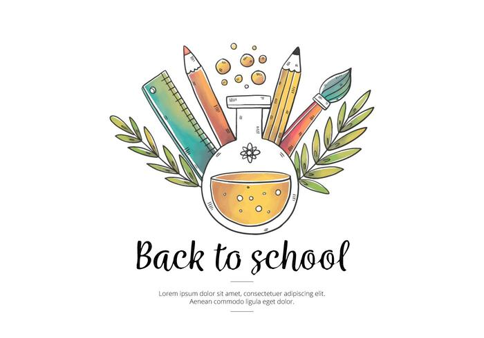 Watercolor Back to School PSD