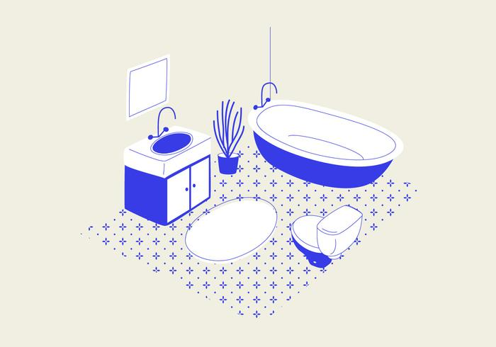 Badezimmer PSD Illustration