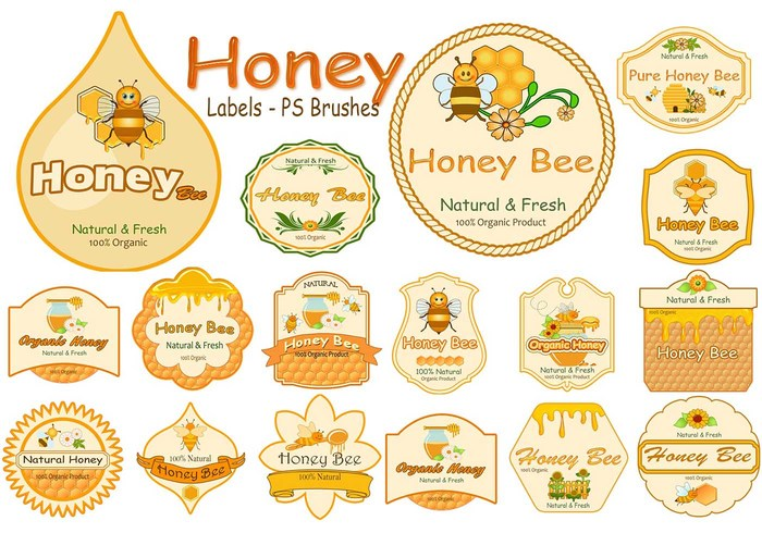 20 Honey Label PS Bürsten abr. vol.13