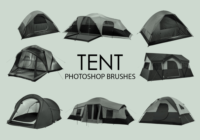 Free Tent Photoshop Brushes