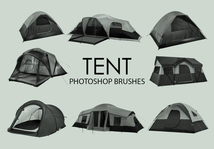 escovas de photoshop de tenda grátis