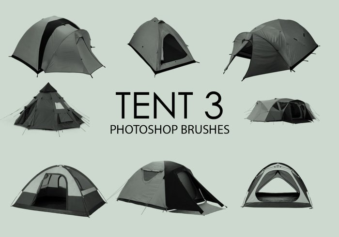 Gratis Tent Photoshop Borstels 3