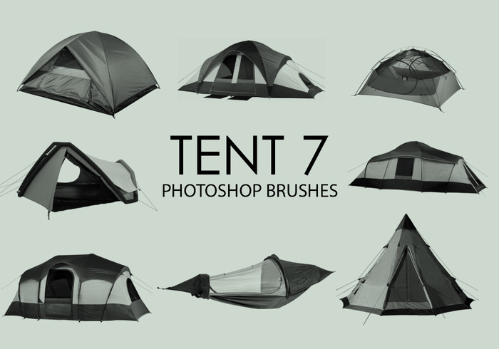 escovas gratuitas do photoshop da tenda 7