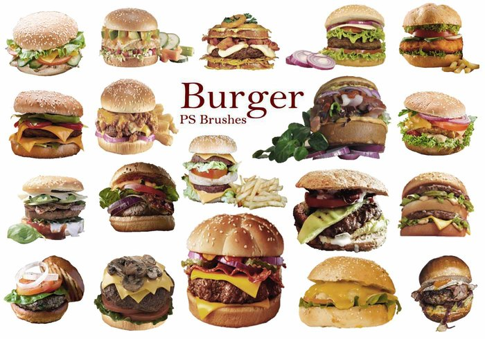 20 Burger PS Brushes abr. vol 9