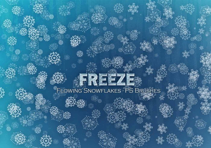 20 Freeze Snowflakes PS Bürsten abr. Vol10