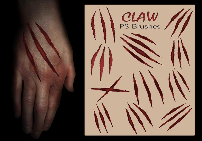 20 Claw Scratch PS Brushes abr. vol.12
