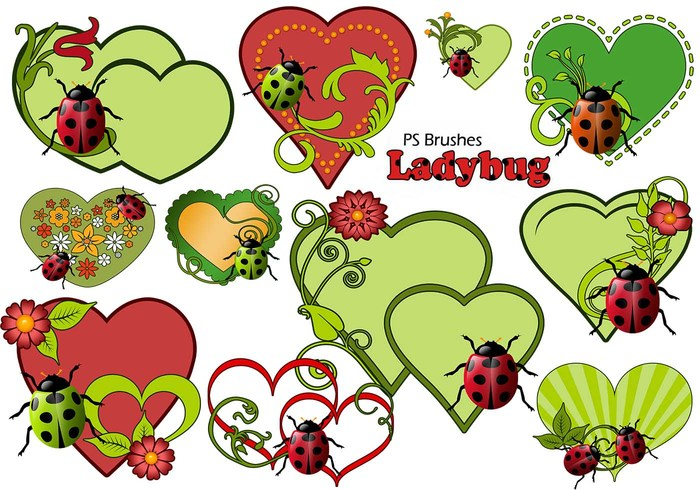 20 Love Ladybug PS Brushes abr.Vol.11