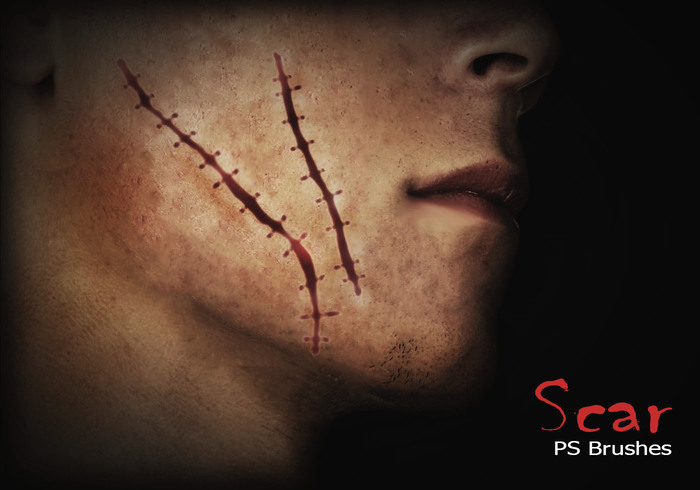20 Scar PS brushes abr.Vol.7