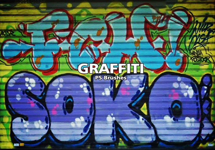 20 Graffiti Texture PS Pinceles abr. Vol.17