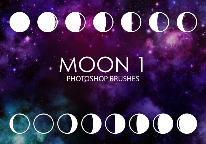 escovas livres do photoshop da lua 1
