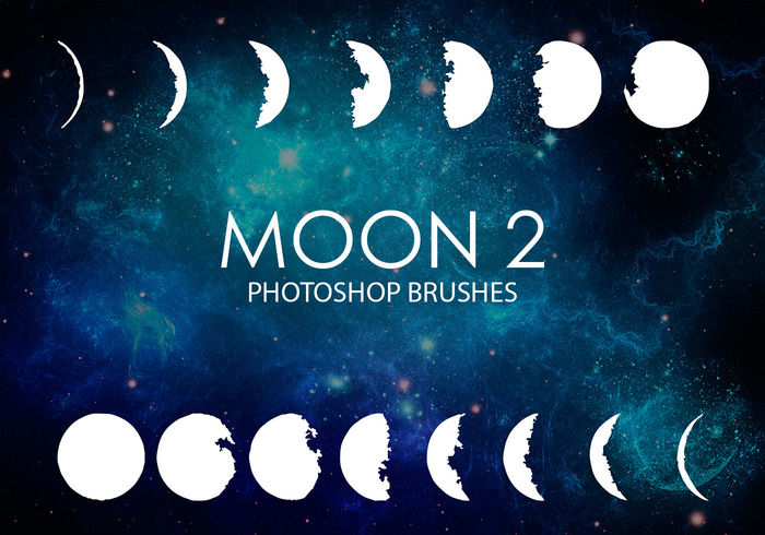 Gratuit Moon Photoshop Brushes 2