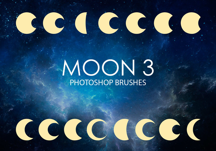 Gratuit Moon Photoshop Brushes 3