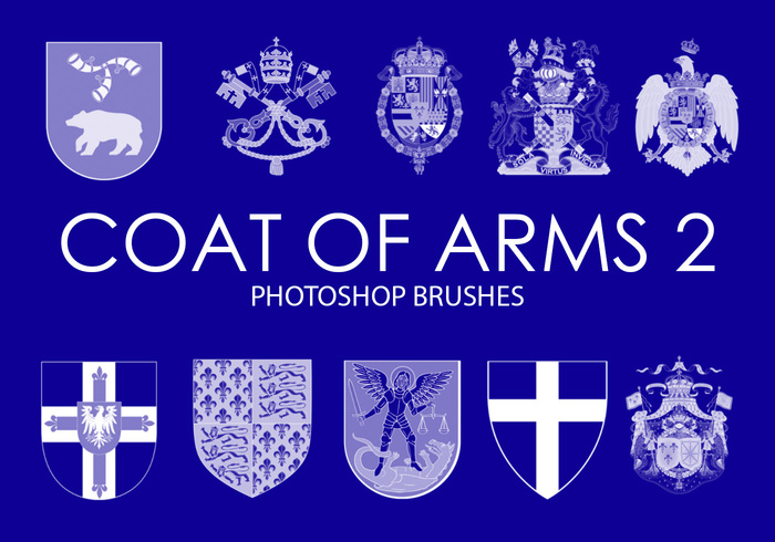 Free Coat of Arms Photoshop Brushes 2
