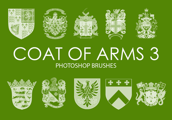 Free Coat of Arms Pinceles para Photoshop 3