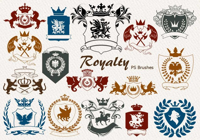 20 Royalty Emblem PS Brushes abr. vol.6