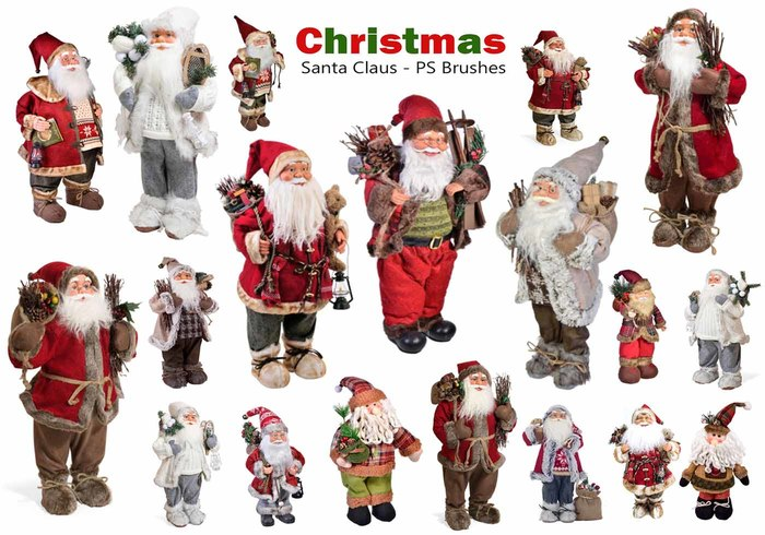 20 Christmas - Santa Claus PS Brushes abr. Vol.12