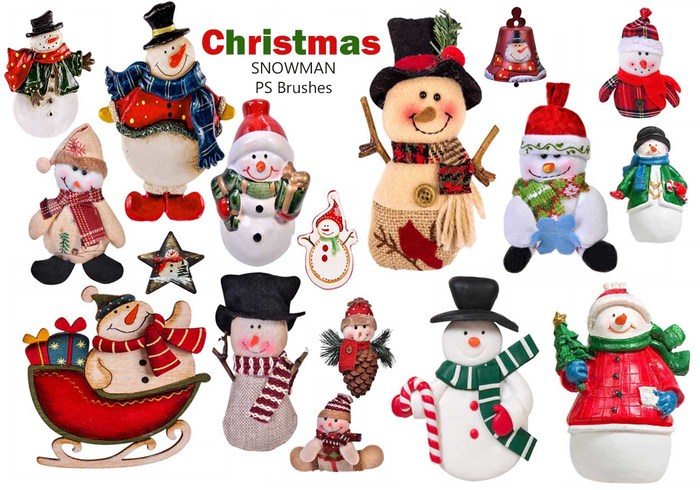 20 Kerstman Snowman PS Borstels abr. Vol.14
