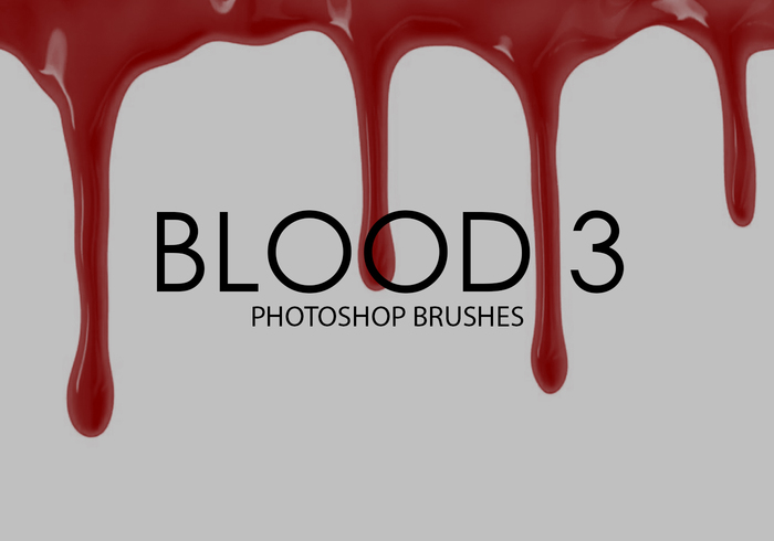 Free Blood Photoshop Brushes 3