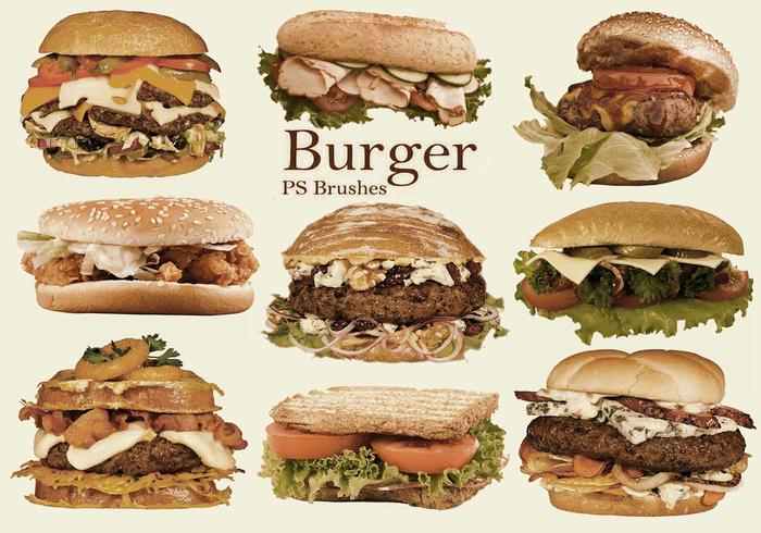 20 Burger PS Brushes abr. vol.10