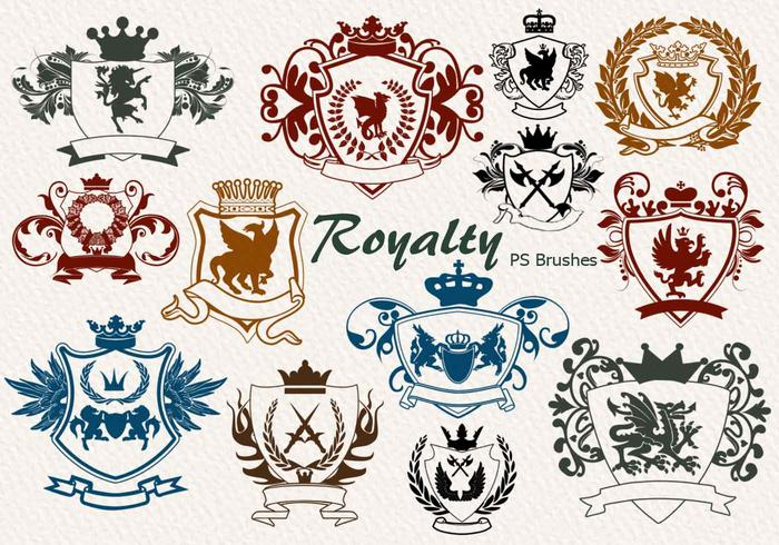 20 Royalty Emblem PS Brushes abr. vol.7