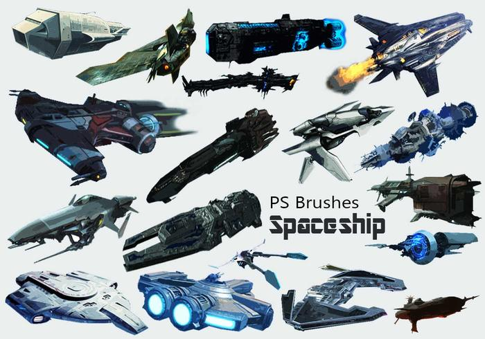 20 Spaceship PS Brushes abr. vol.8