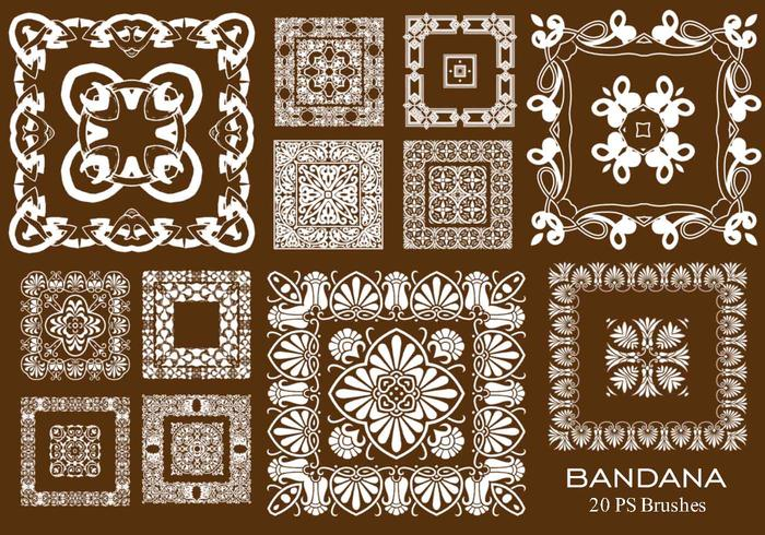 20 bandana ps brushes.abr vol.13