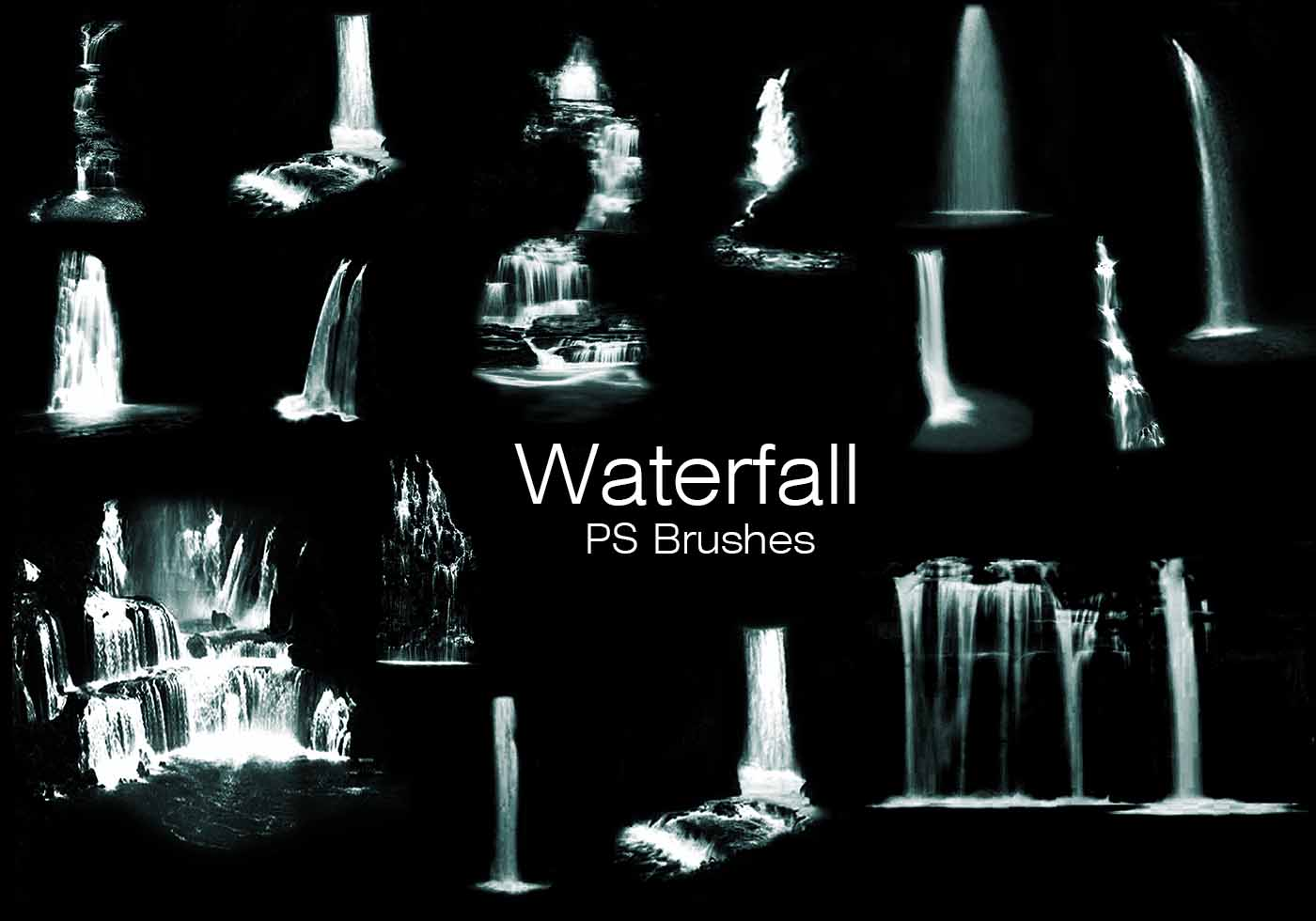 20 waterfall ps brushes abr vol9 free photoshop