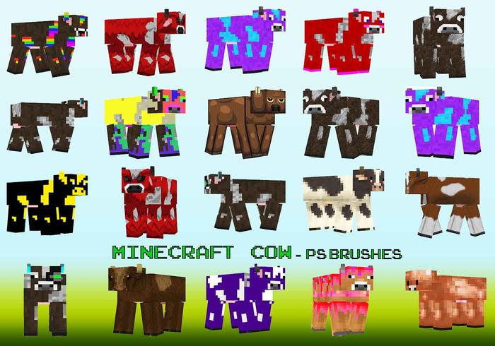 20 pinceles PS Minecraft Cow abr. Vol.20