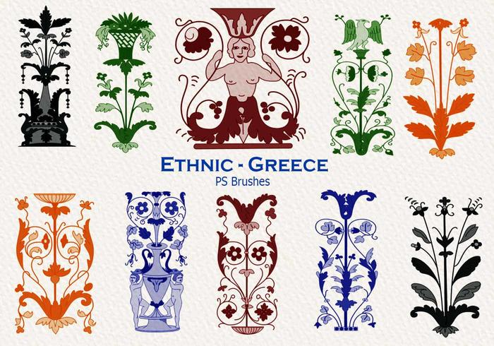 20 Ethnic Greece PS Brushes abr. vol.25