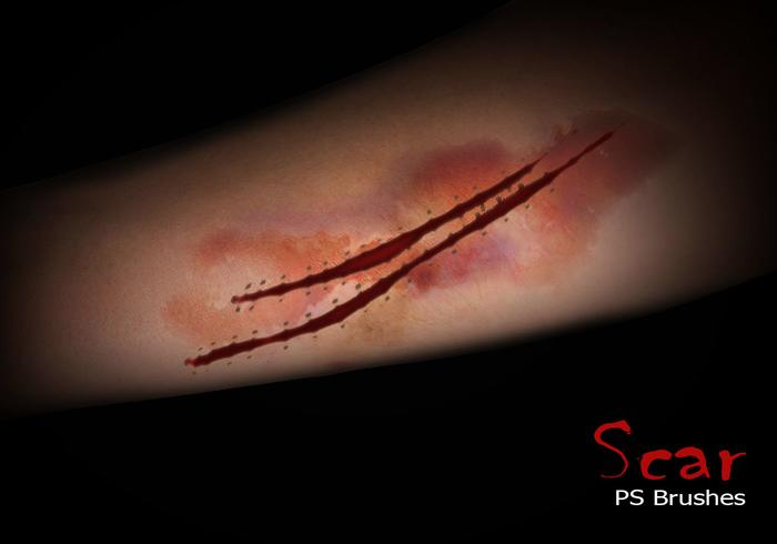 20 Scar PS Brushes abr.Vol.10
