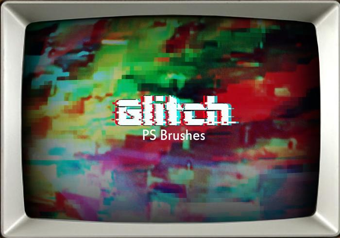 20 glitch texture ps brushes.abr vol.2