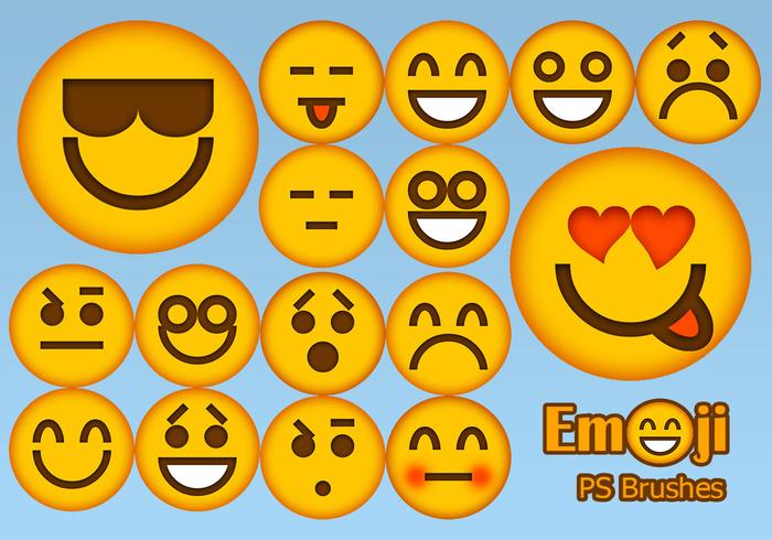 20 Emoji Face PS Brushes abr.Vol.2