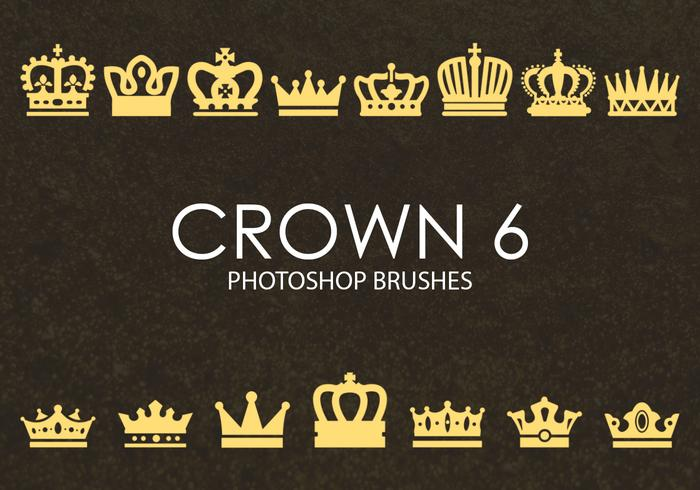 Brochas gratuitas de Photoshop Crown 6